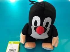 Der kleine Maulwurf Baby sitzend rote Mütze Plüschtier, 20 cm