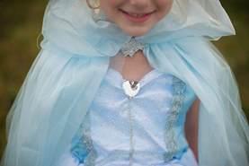 Great Pretenders Cape Prinzessin Mesh blau