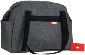 BabyLux Wickeltasche Kinderwagentasche Pflegetasche CANDY FLEX GRAU
