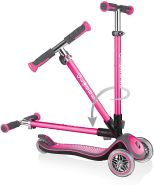 GLOBBER Elite Lights Deluxe Scooter, pink, mit Leuchtrollen