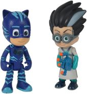 Simba 109402148 - PJ Masks Figurenset Catboy und Romeo / Pyjamaheld und Bösewicht / Catboy mit Licht / Action Figuren / beweglich / 8cm groß, für Kinder ab 3 Jahren