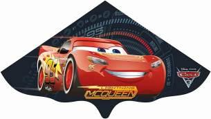 Paul Günther 1183 - Kinderdrachen mit Disney Pixar Cars Motiv, Einleinerdrachen aus robuster PE-Folie für Kinder ab 4 Jahre mit Wickelgriff und Schnur, ca. 115 x 63 cm groß