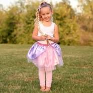 Rapunzel Rock und Haarreif, für 4-6 Jahre - Faschingsrock