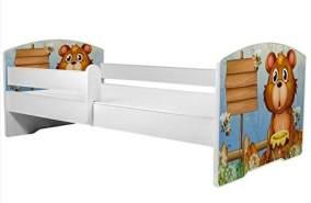 Angelbeds 'Luk2 Luk' Kinderbett 80 x 160 cm, Motiv 8, mit Lattenrost, Matratze und mit Bettschublade