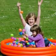 950 bunte Bälle für Bällebad 5,5cm Babybälle Plastikbälle Baby Spielbälle Pastell