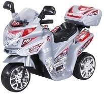 Kinder Elektromotorrad Motorrad Kinderelektroauto Kinderfahrzeug Dreirad (Silber)