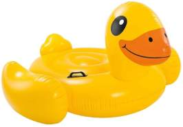 Intex Yellow Duck Ride-On - Ente - Aufblasbare Figur - 147 X 147 X 81 cm