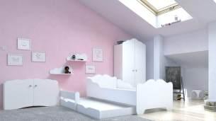 Angelbeds 'Anna' Kinderbett 80x160 cm, Motiv 0, mit Flex-Lattenrost, Schaummatratze und Schubbett
