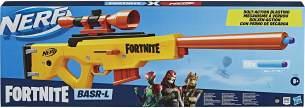 Nerf Fortnite BASR-L Blaster mit Bolzen-Action, Clip-Magazin – enthält abnehmbares Fernrohr, 6-Dart Clip-Magazin, 12 Nerf Elite Darts