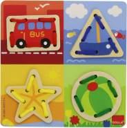 Jumbo Spiele D55018 - Fädelspiel Gegenstände, Lernspielzeug