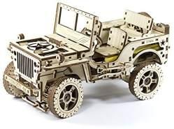 HQ Windspiration Jeep 4x4 3D-Holzfunktionsbausätze, Holz, Natur, 27.9 x 15 x 63 cm