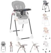 Lorelli Kinderhochstuhl Dulce Sitzhöhe verstellbar, faltbar, 5-Punkt-Gurt, Korb bunt