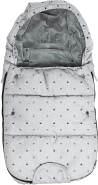 Original Dooky Footmuff Crowns Small Baby Fußsack für Kinderwagen & Maxi Cosi, 0 bis 9 Monate, 70 x 40 cm, winterfest, wasserdicht & winddicht, geeignet für 3- und 5-Punkt-Gurte, hell grau, universell einsetzbar