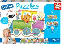 Educa Borras - Baby Puzzles Animals Train (17142)