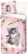 Good Morning! Wendebettwäsche Pussycat Renforcé rosa Größe 135x200 cm (80x80 cm)