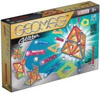 Geomag, Classic Glitter 533, Magnetkonstruktionen und Lernspiele, Konstruktionsspielzeug, 68-teilig