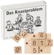 Bartl 102054 Mini-Holz-Puzzle Das Knastproblem aus einem kleinen Spielbrett und 8 Holzplättchen