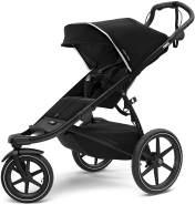 Thule Urban Glide 2 All Terrain Kinderwagen, schwarz/schwarzer Rahmen, Einzelbett