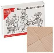 Bartl 102147 Mini-Holz-Puzzle Das Quadrat-Rätsel aus 4 kleinen Holzteilen