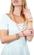 Lena 42304 - Bastelset Diamond Shop groß, Komplettset mit 10000 Fädelperlen, elastischen Fäden, Sortierschale und Anleitung, Set zum Schmuck basteln für Kinder ab 8 Jahre