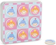 Small Foot 11118 Magnet Tic Tac Toe Ritter und Prinzessin Spiel, in Einer Metallbox mit magnetischen Spielsteinen, ideal zum Mitnehmen und auf Reisen Spielzeug, Mehrfarbig