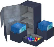 Ultimate Guard UGD010381 - Twin Flip und Tray Deck Case 200+ Standardgröße Xeno Skin, blau