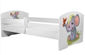 Angelbeds 'Luk2 Luk' Kinderbett 80 x 160 cm, Motiv 7, mit Lattenrost, Matratze und mit Bettschublade