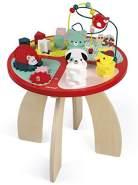 Janod Spieltisch Baby Forest aus Holz - Stapeln, Sortieren und Geschicklichkeit - Baby Spielzeug mit Labyrinth, Zahnradsystem, Abakus und 3 Holztieren - Holzspielzeug ab 1 Jahr, J08018