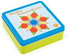 Small Foot 11357 Tangram Legespiel in Blechbox, inkl. 16 Aufbauvarianten für endlosen Knobelspaß, ab 3 Jahren Spielzeug, Mehrfarbig