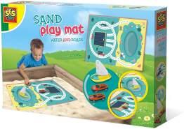 Ses Sandspielmatte mit Wasser und Straßen