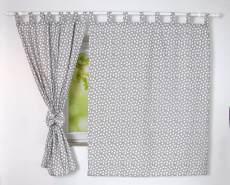BabyLux 'Herzen' Vorhänge mit Schlaufen, grau