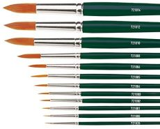 Kreul 721000 - Universalpinsel Basic Synthetics, für Kunst, Hobby, Schule und Großverbraucher, Besatz aus feinem Nylonhaar, rund, Größe 0