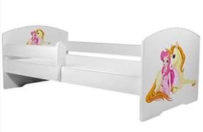 Angelbeds 'Luk2 Luk' Kinderbett 80 x 160 cm, Motiv 15, mit Lattenrost, Matratze und mit Bettschublade