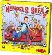 HABA 304682 - Hempels Sofa, Denkspiel mit XXL-Spielplan und 3D-Spielmaterial, Spiel ab 5 Jahren