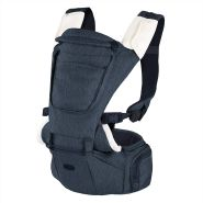 Chicco Babytrage Hip Seat, 3-in-1 ergonomische und multifunktionale Babytrage mit abnehmbaren und separat nutzbarer Hüftsitzbasis, blau