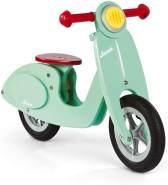Janod Roller Laufrad aus Holz Groß Mint - Retro Kinder Laufrad - Verstellbarer Sattel, aufblasbare Reifen - Farbe Mintgrün - Ab 3 Jahren, J03243