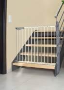 reer 'T-GATE' Türgitter und Treppengitter, für Türbreiten 77 - 104 cm, zum Klemmen oder Schrauben, Metall, Weiß