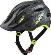 Alpina CARAPAX JR. Fahrradhelm, Kinder, black-neon yellow, 51-56