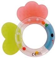 Bieco 41001154 Baby Rasselbeißer Fisch, Ringrassel und Beisser In einem, Babyrassel, Rassel Fisch mit Flossen zum Kauen, Beißring und Motorikspielzeug für Babys Ab 3M+, Mehrfarbig, 30 g