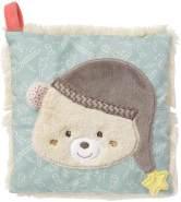 Fehn 060515 Kirschkernkissen Bär – wohltuendes Wärme- und Kältekissen mit süßer Teddy Applikation für Babys und Kleinkinder ab 0+ Monaten – Maße: 15 x 15 cm, Mehrfarbig