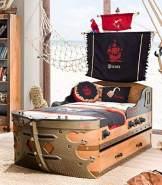 Froschkönig24 Cilek Pirate Kinderbett ausziehbar, Matratze:ohne