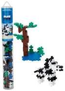 Plus-Plus 300.4089 Zebra Tube Mix (100 Stück), Mehrfarbig