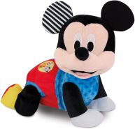 Clementoni 59098 Disney Baby - Mickey Krabbel mit mir, kuscheliges Lernspielzeug für Baby - s & Kleinkinder, Plüschtier zur Entwicklung der Motorik, Förderung der Entwicklung