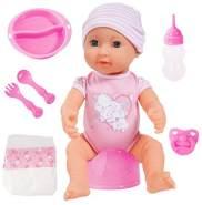 Bayer Design 94071AA - Piccolina New born Baby 40 cm Funktions Puppe mit Schlafaugen inklusiv Zubehör