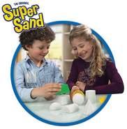 Super Sand 383324.008 Goliath Classic-magischer Sandburgen im Kinderzimmer-Empfohlen ab 4 Jahren, Weiß