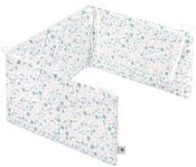 Zöllner 8270069280 Nestchen Comfort Soft für Babybett, 180 x 35 cm, Jersey-Baumwolle, Standard 100 by OEKO-Tex, Blümchen, mehrfarbig