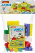 Polesie 6646 Bausteine Set 'Junior' 33 Teile im Beutel, farblich sortiert