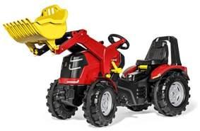Rolly Toys rollyX-Trac Premium Trettraktor (Alter 3-10 Jahre, Flüsterlaufreifen, mit Frontlader, Frontkotflügel) 651009