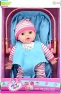 Toi-Toys 02064A - Puppe mit MiniCosi Babyschale
