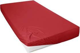 Primera Mako-Feinjersey Jersey-Spannbetttuch, rot, 90x190-100x200 cm